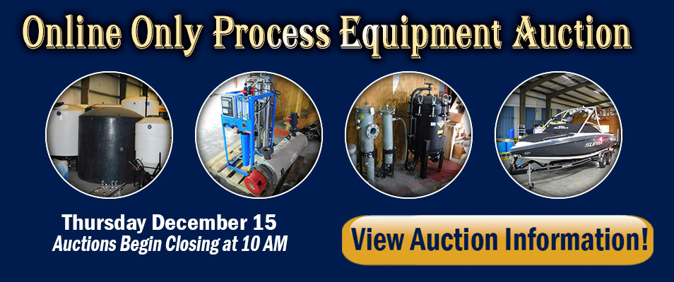 Online Only Process Equipment Auction