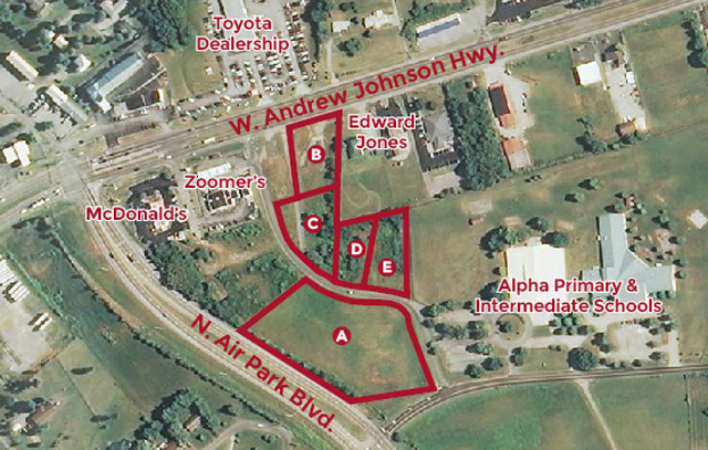 SOLD – Absolute Auction of 5 Commercial Tracts Ranging From .65 to 3.05 Acres