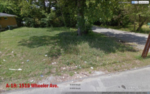 Property A-18 - 1515 Wheeler Ave. Lot