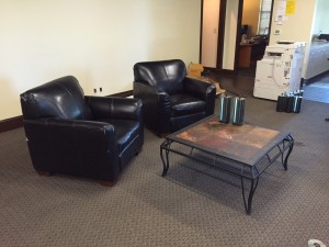 Leather Chairs and Coffe Table
