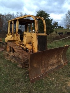 1990 Cat D5H Crawler Dozer.OROPS.rear screen winch