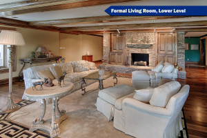 Formal Living Room on Lower Level