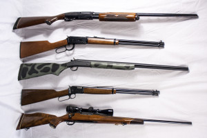 Assorted rifles