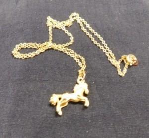 J - 18K Gold Horse Necklace