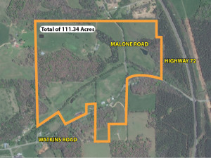 Property Outline for Howard Estate in Loudon