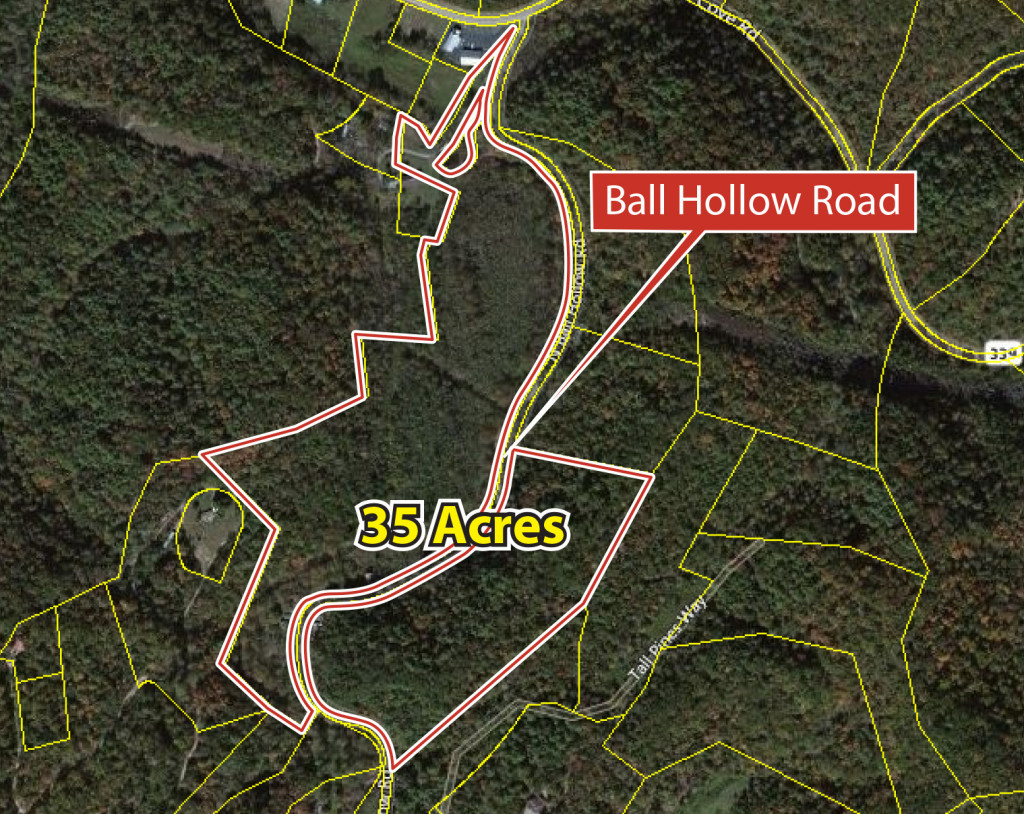 ENDED – Real Estate Auction for 35 Acres in Smoky Mountains, Subject to Court Confirmation