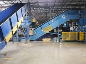 NexGen Inline SortingShreddingBaling System, Mdl S-6042-10-100 to include Hydraulic Power Unit, Williams 150HP Hogger, EZ Trak Incline Conveyor, Unloader, Incline Conveyor