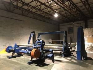 Powell Engineering Paper Slitter Unwinding System, Mdl EP60132,10'w, sn E45860124BEE2HP100X3R (Caneron Camamachine)