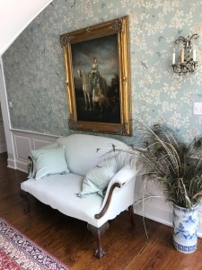 Elizabeth Lane Farm_Chippendale Style Loveseat Irish