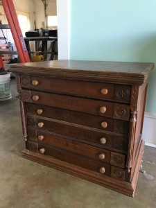Antique Spool Chest