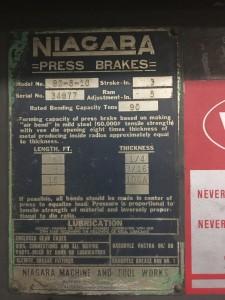 Niagra Press Brake3