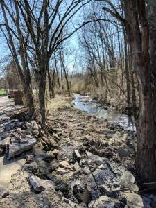 Creek running through property