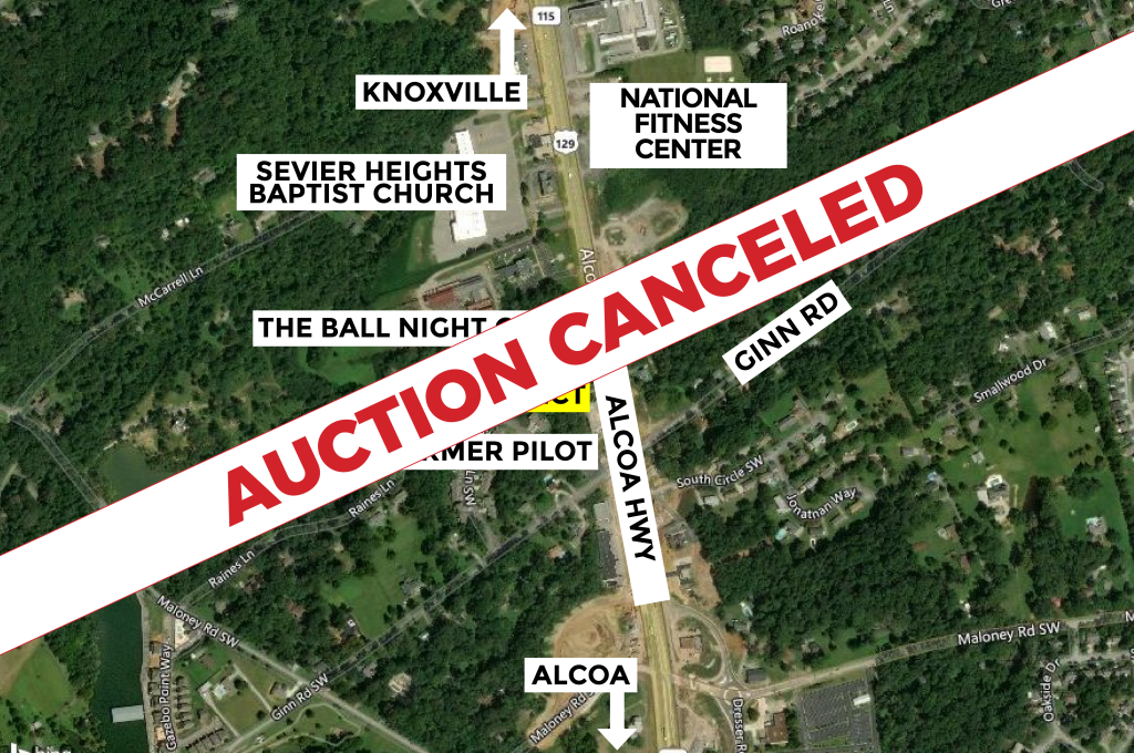 AUCTION CANCELED – Real Estate Auction – Approx. 23,960 s.f. Commercial Lot