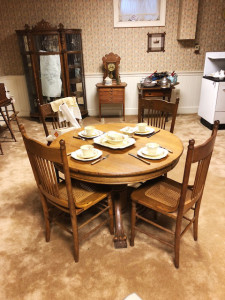 Oak Paw Foot Table and Chairs