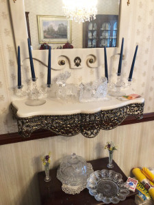 Ornate Shelf and Mirror