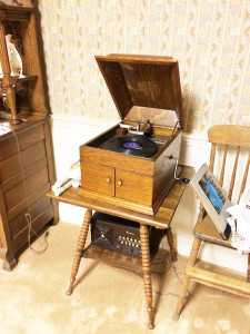 Victrola and Table