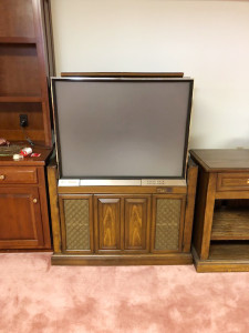 Vintage TV with Cabinet